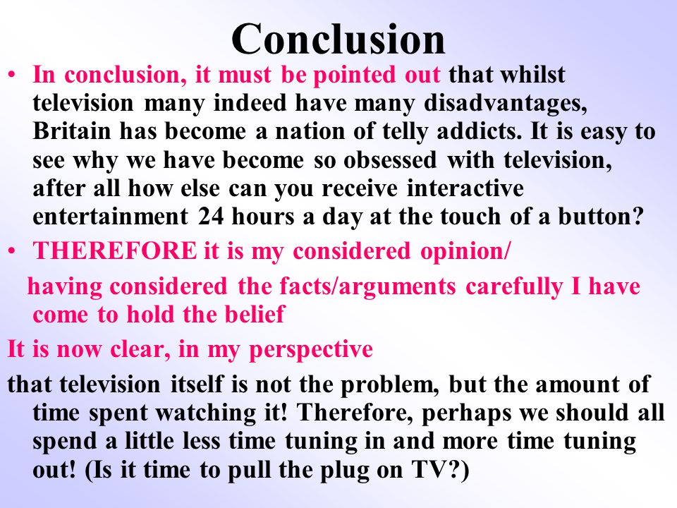 Is TV a blessing or a curse.At least 4 paragraphs 1) Introduction- What is television.