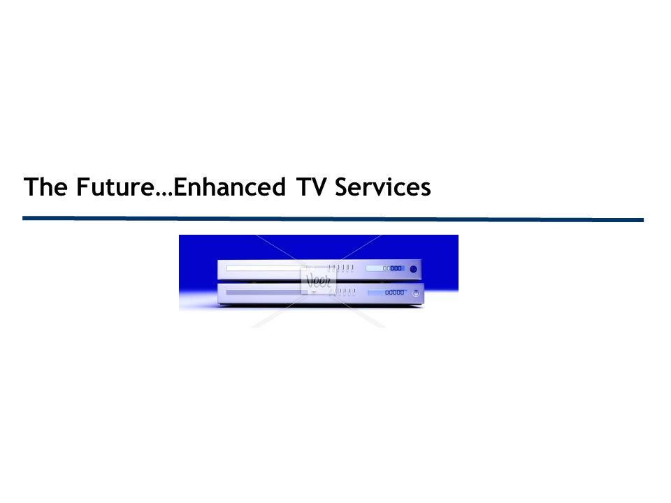 The Future…Enhanced TV Services