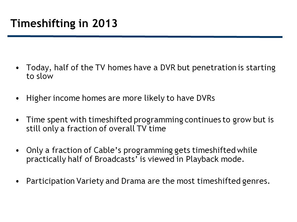 Today Practically Half Of Homes Have a DVR; With Growth Rate Starting To Slow % of U.S.