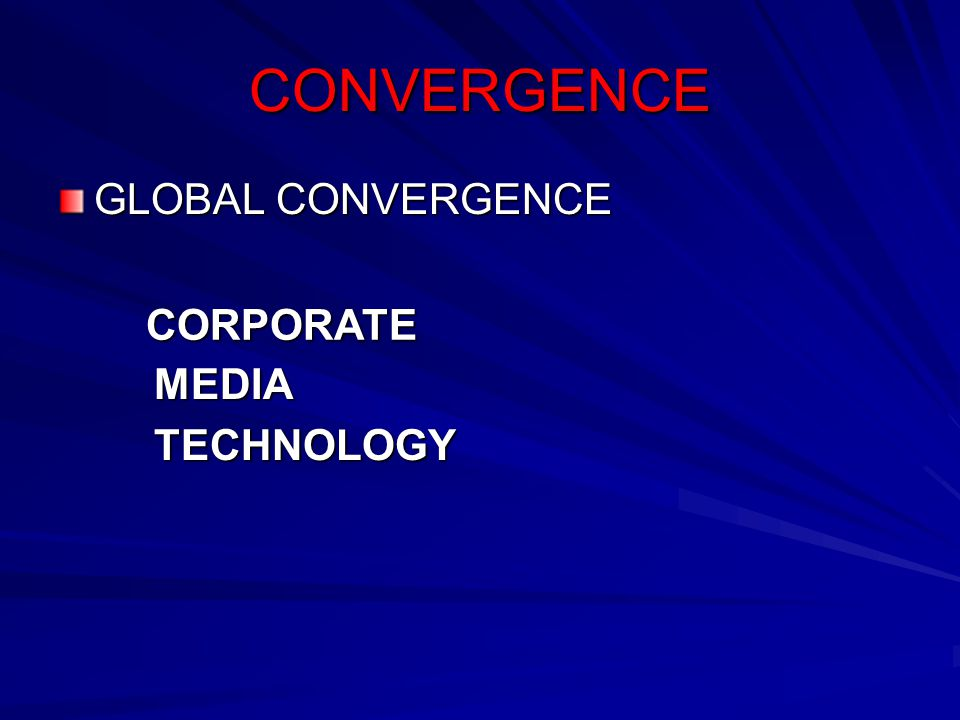 CONVERGENCE GLOBAL CONVERGENCE MEDIATECHNOLOGY CORPORATE