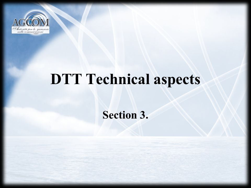 DTT Technical aspects Section 3.