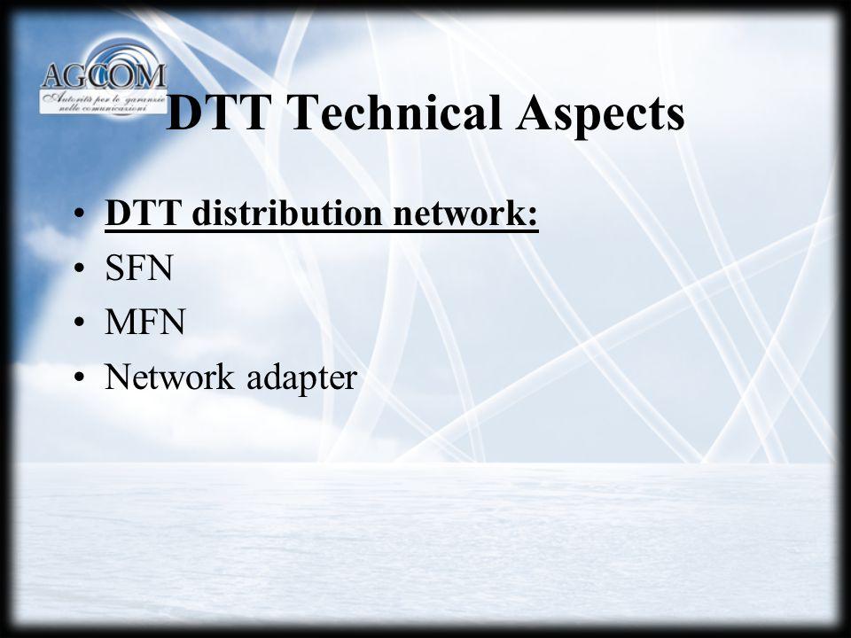 DTT distribution network: SFN MFN Network adapter