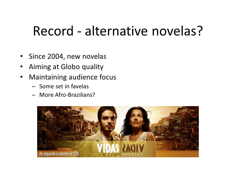 Record - alternative novelas.