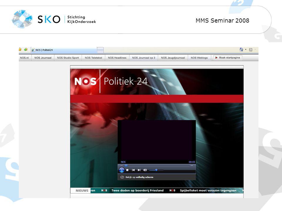 MMS Seminar 2008 Thematic channels Politiek 24 uur
