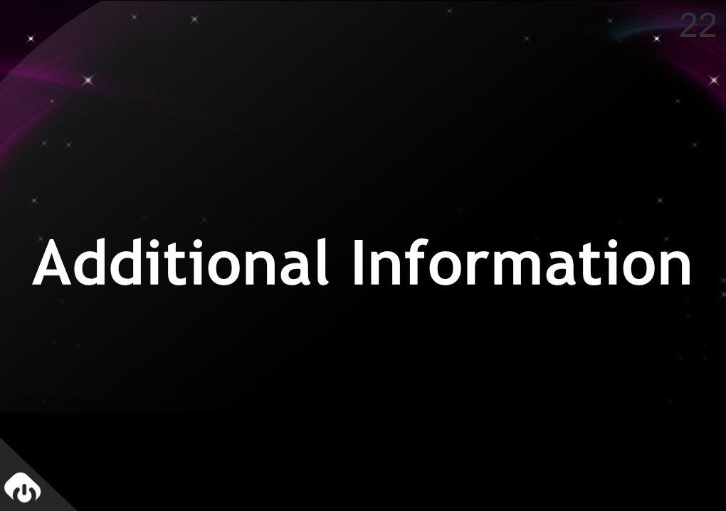 Additional Information 22