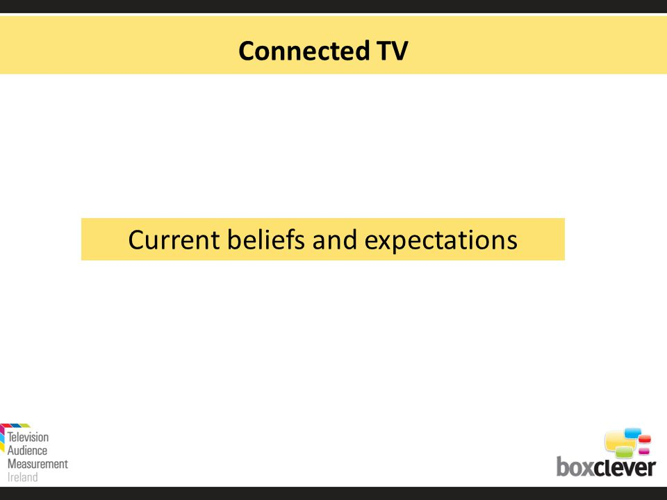 Connected TV Current beliefs and expectations