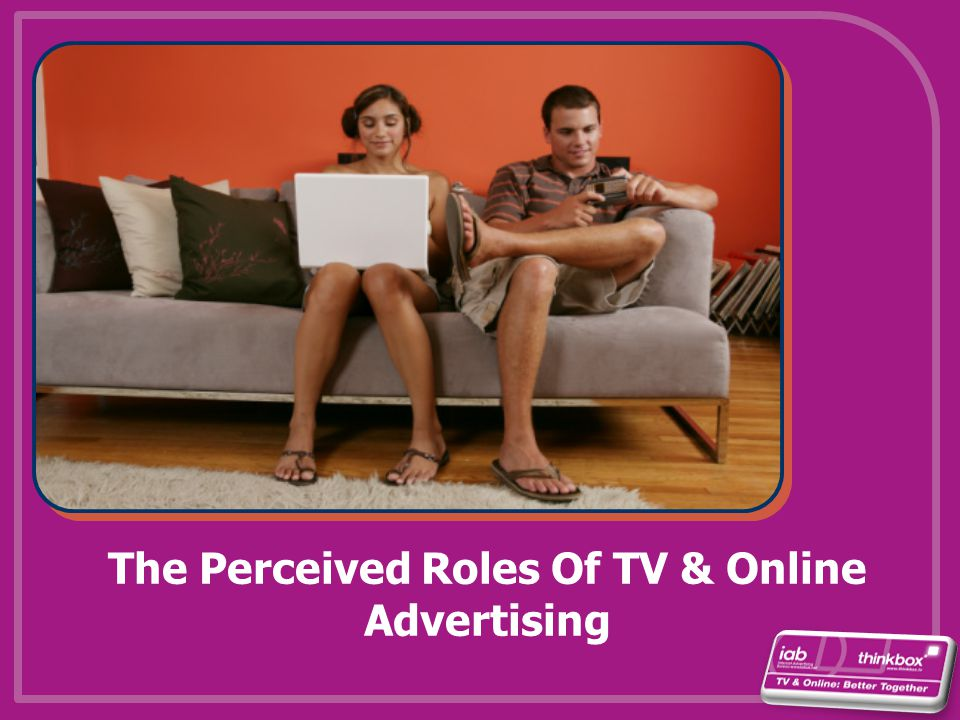 The Perceived Roles Of TV & Online Advertising