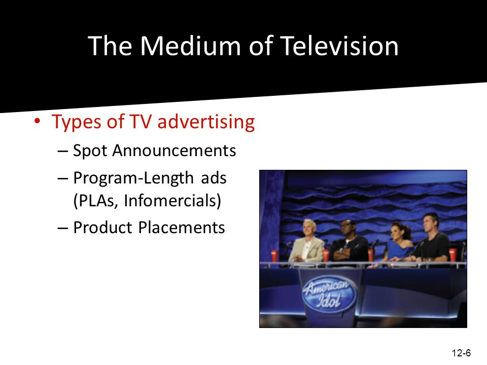 TV Audience Measurement Rating Services – Companies samples of TV & radio audiences – cable services sometimes provide their own ratings services Defining Television Markets – Nielsons Designated Market Areas (DMAs) 12-7