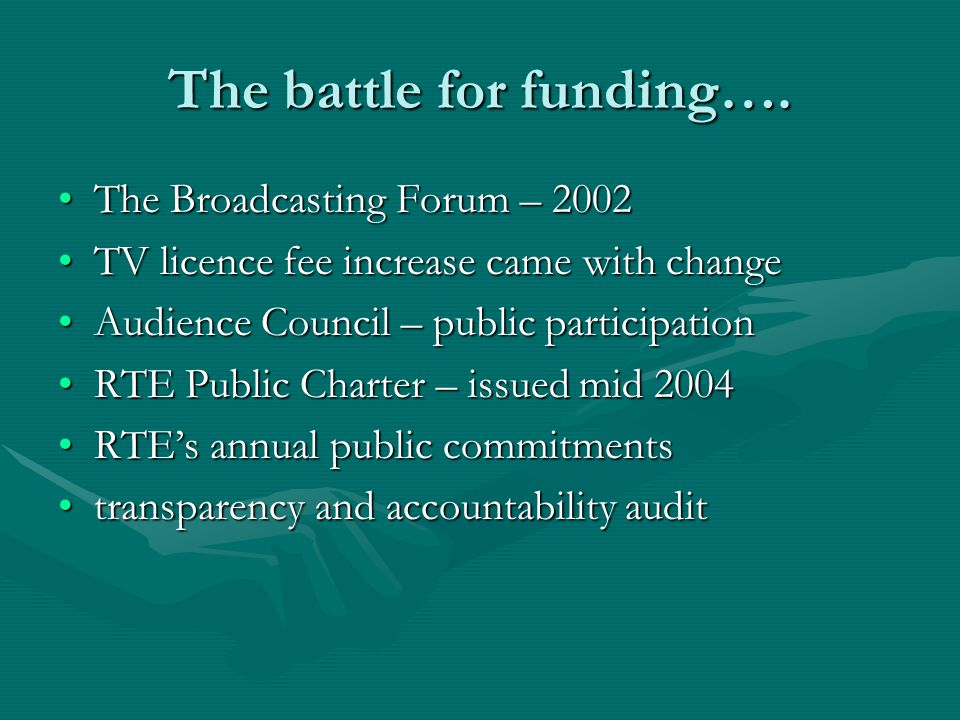 The battle for funding….
