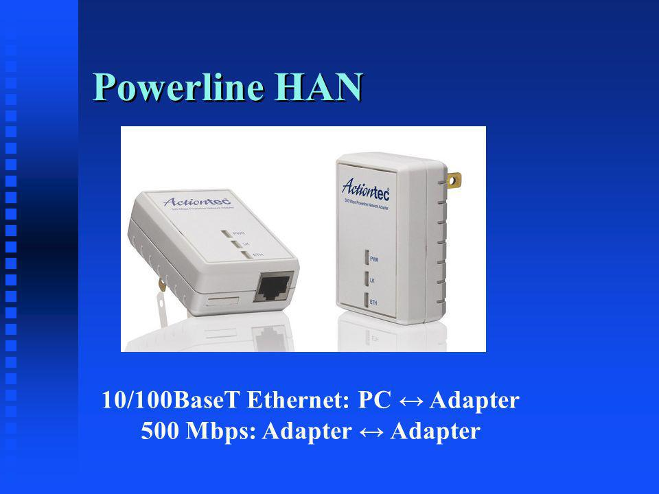 Powerline HAN 10/100BaseT Ethernet: PC Adapter 500 Mbps: Adapter Adapter