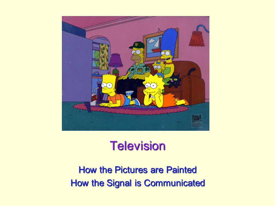 Television How the Pictures are Painted How the Signal is Communicated