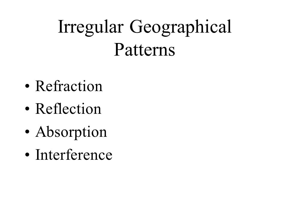 Irregular Geographical Patterns Refraction Reflection Absorption Interference
