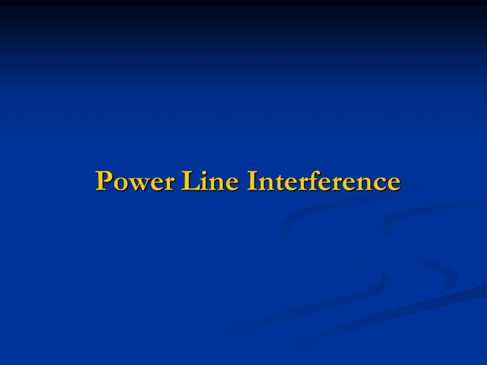Power Line Interference