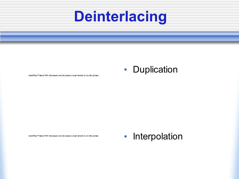 Deinterlacing Duplication Interpolation