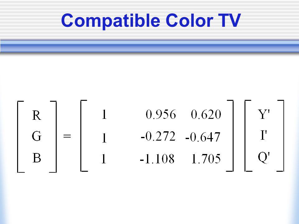 Compatible Color TV
