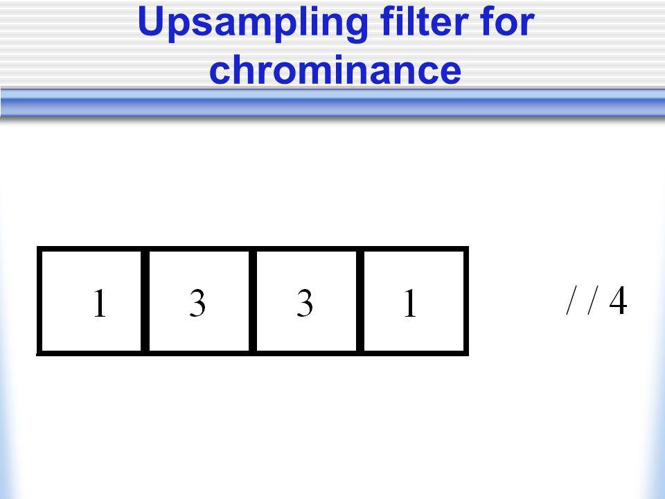 Upsampling filter for chrominance