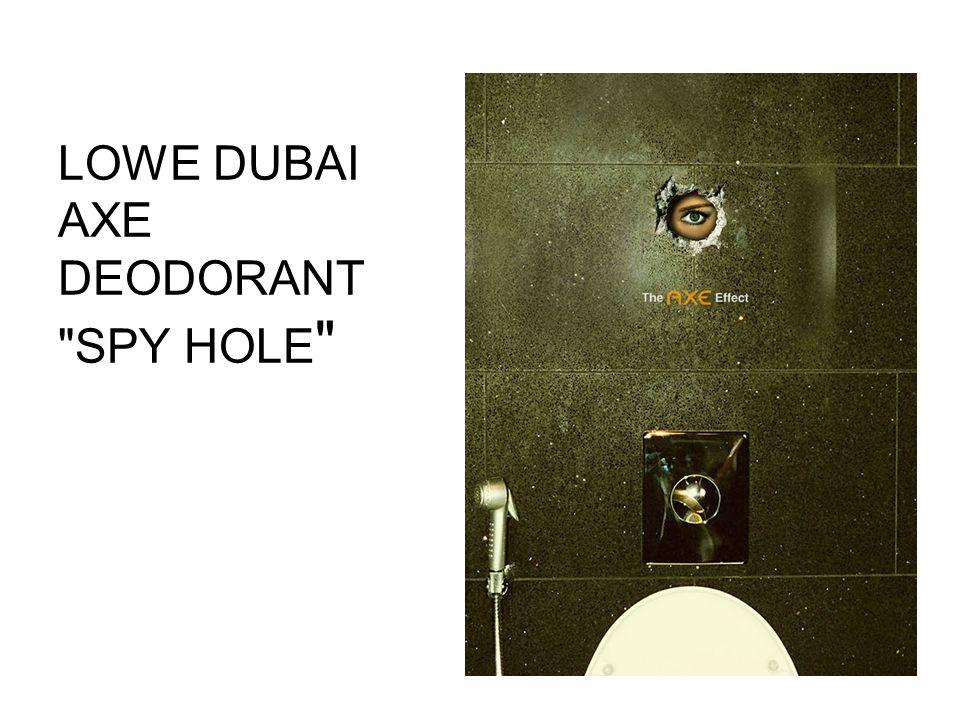 LOWE DUBAI AXE DEODORANT SPY HOLE