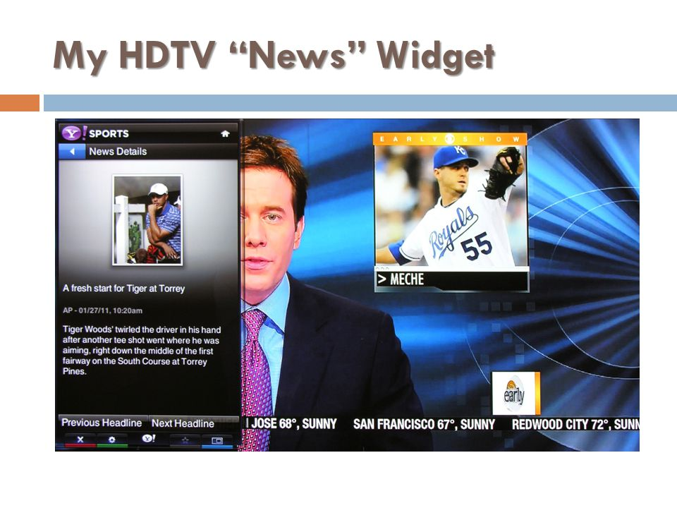My HDTV News Widget