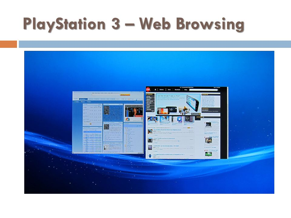 PlayStation 3 – Web Browsing