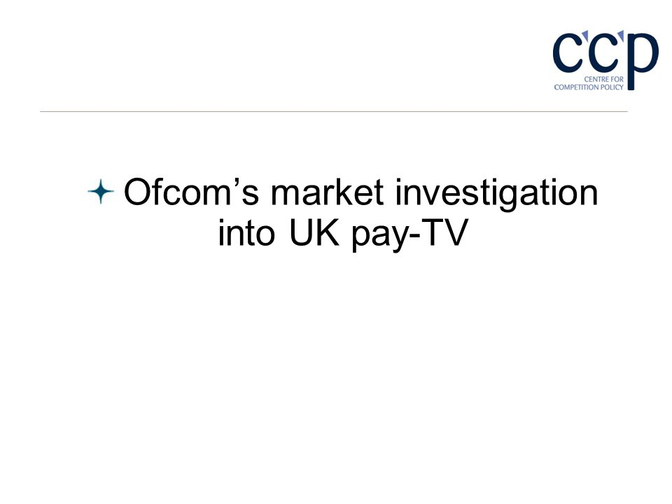 Ofcoms market investigation into UK pay-TV