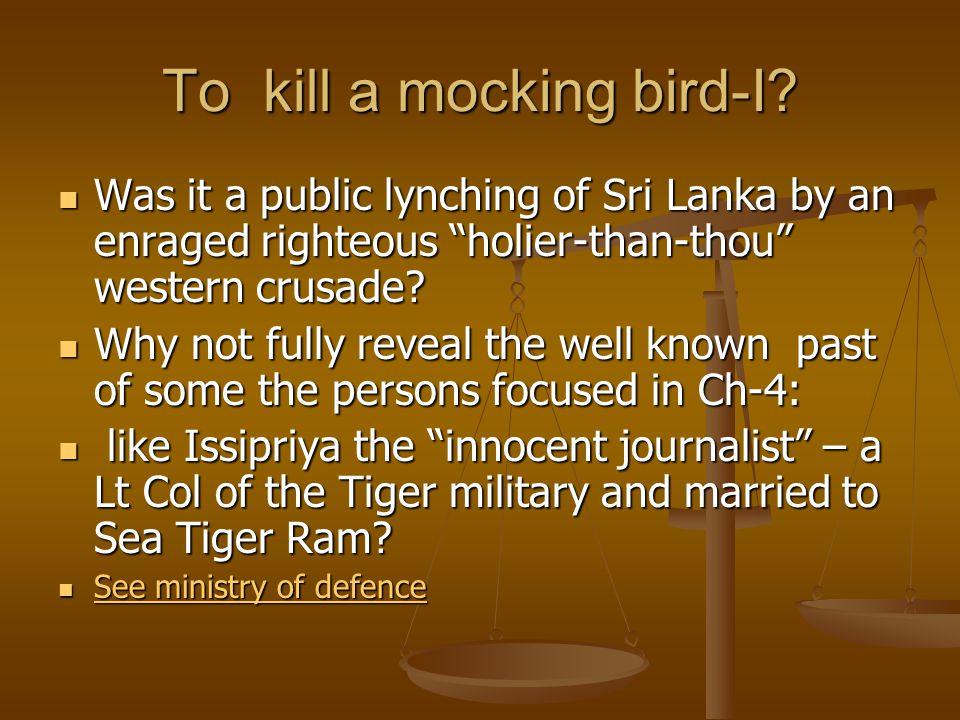 To kill a mocking bird-I.