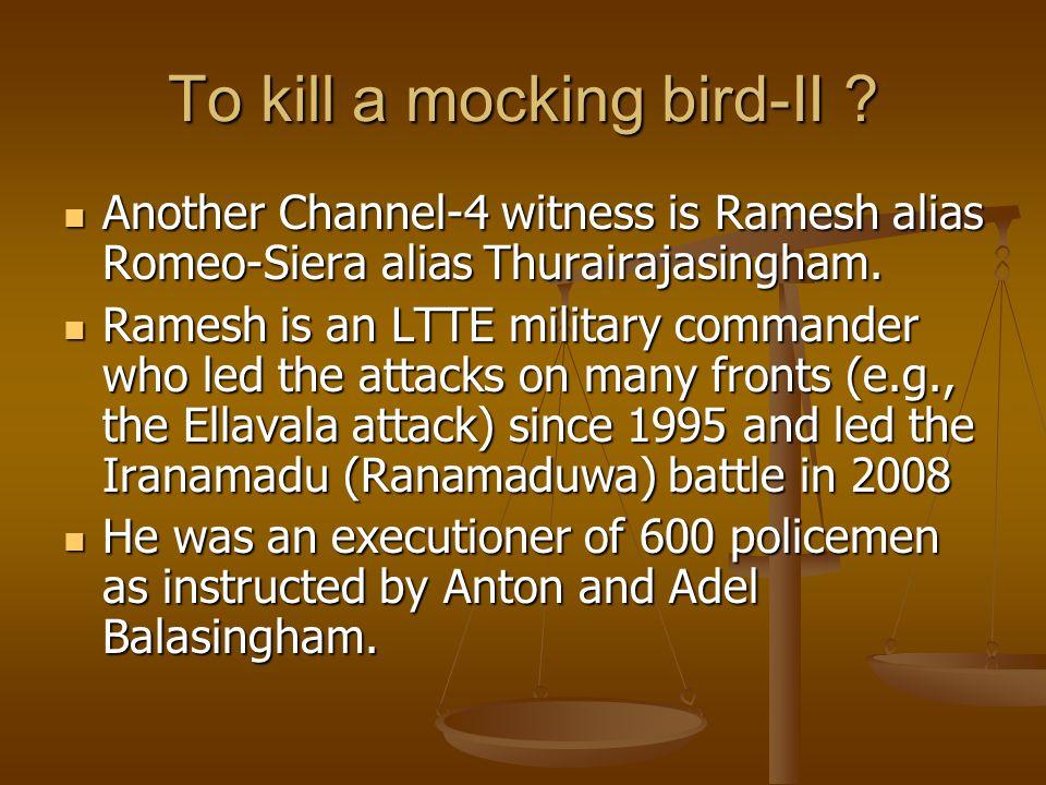 To kill a mocking bird-II .