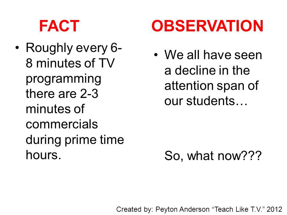 Break Time!!! Created by: Peyton Anderson Teach Like T.V. 2012