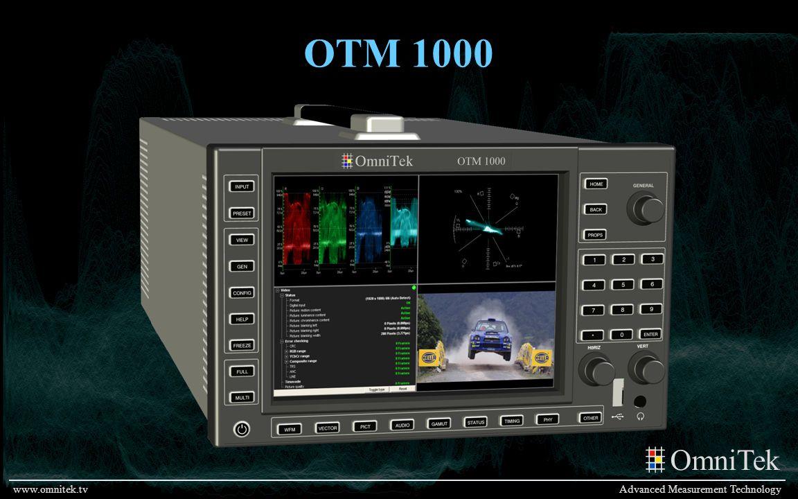 OmniTek Advanced Measurement Technologywww.omnitek.tv OTM 1000