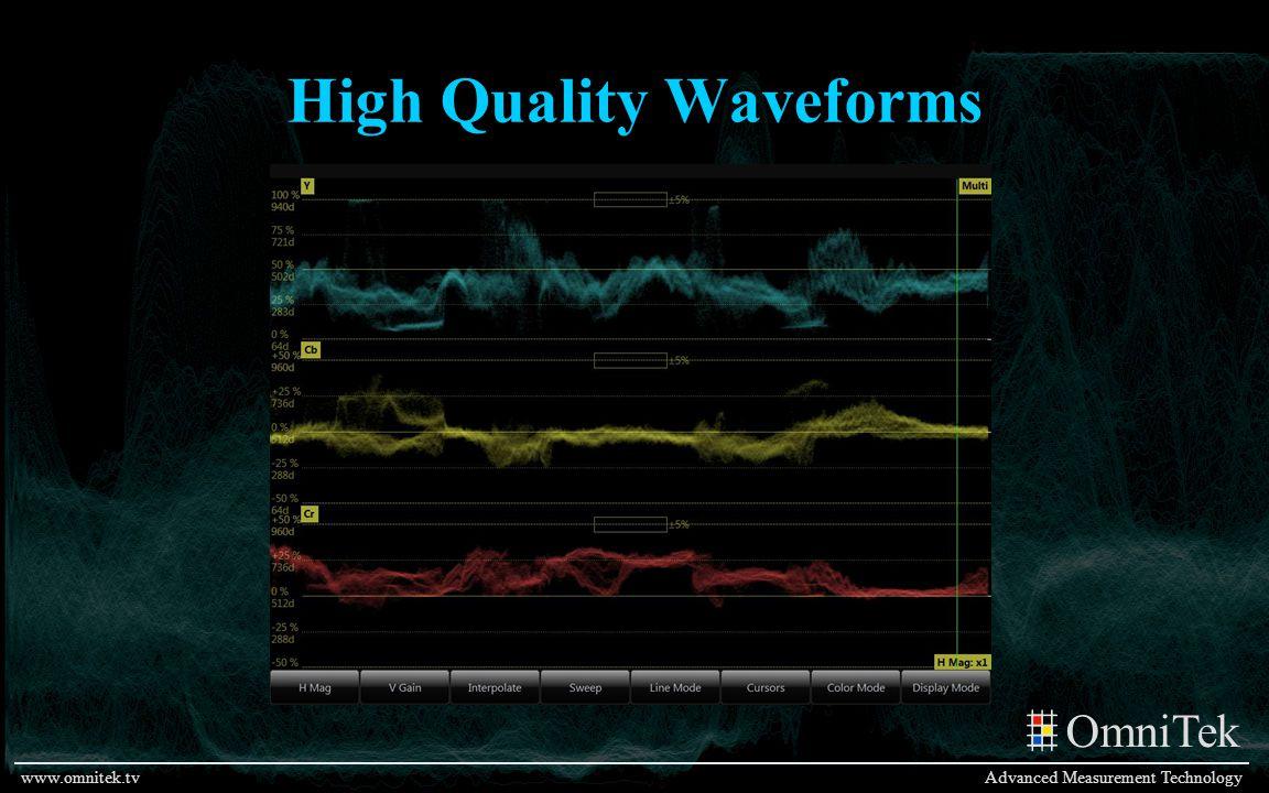 OmniTek Advanced Measurement Technologywww.omnitek.tv High Quality Waveforms