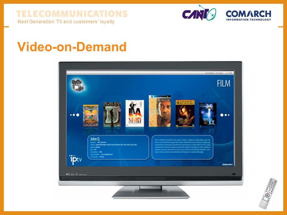 Next Generation TV and customers loyalty Video-on-Demand