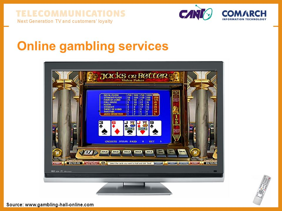 Next Generation TV and customers loyalty Online gambling services Source: www.gambling-hall-online.com