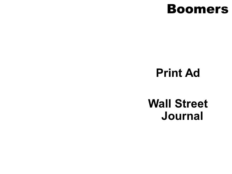 Print Ad Wall Street Journal Boomers