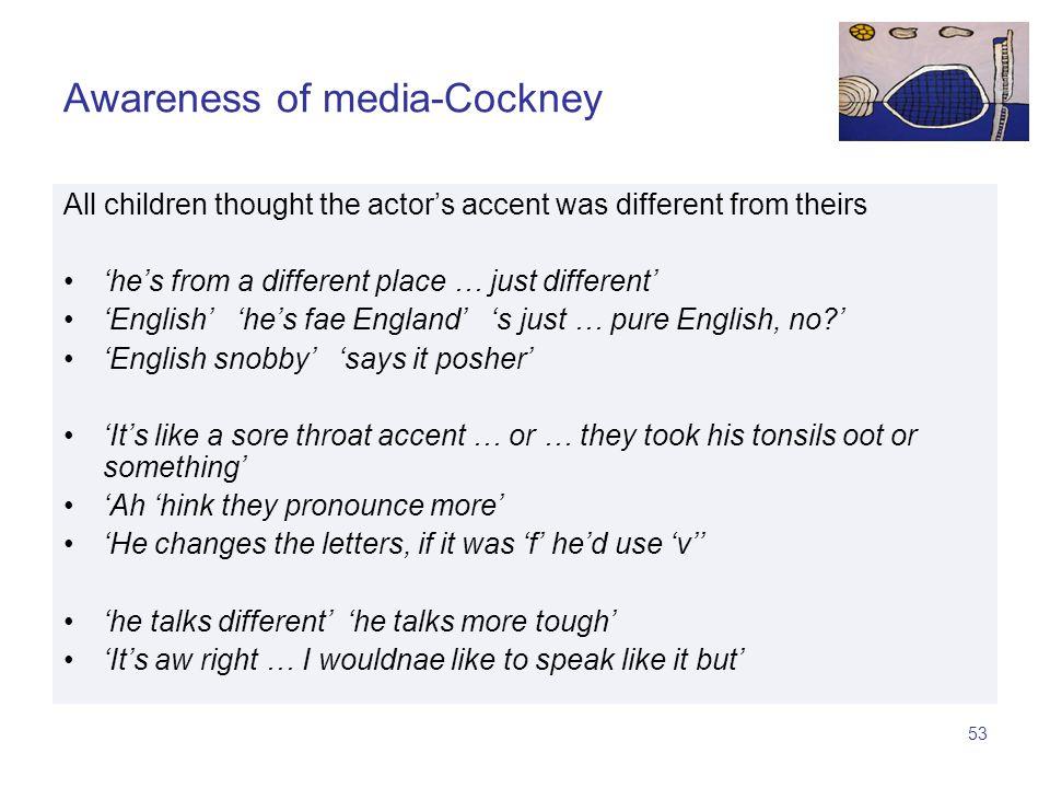 52 Awareness of media-Cockney.