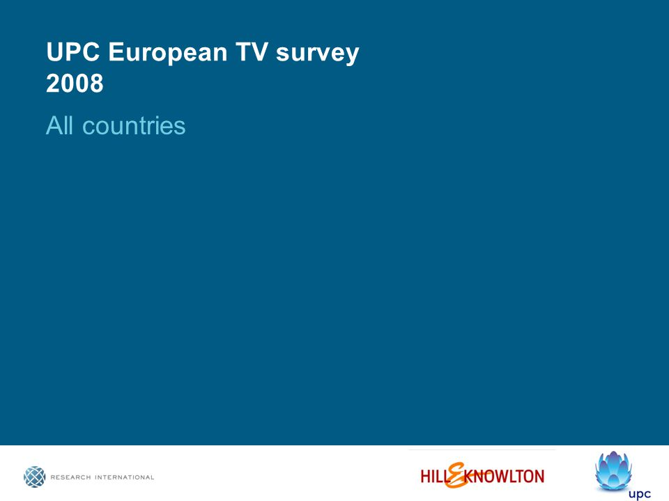 UPC European TV survey 2008 All countries