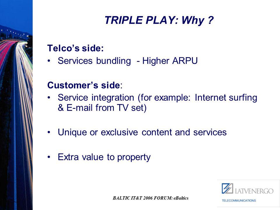 BALTIC IT&T 2006 FORUM: eBaltics TRIPLE PLAY: Why .