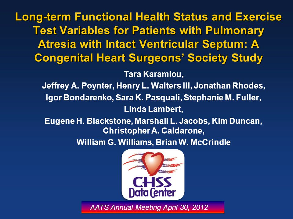 Long-term Functional Health Status and Exercise Test Variables for Patients with Pulmonary Atresia with Intact Ventricular Septum: A Congenital Heart