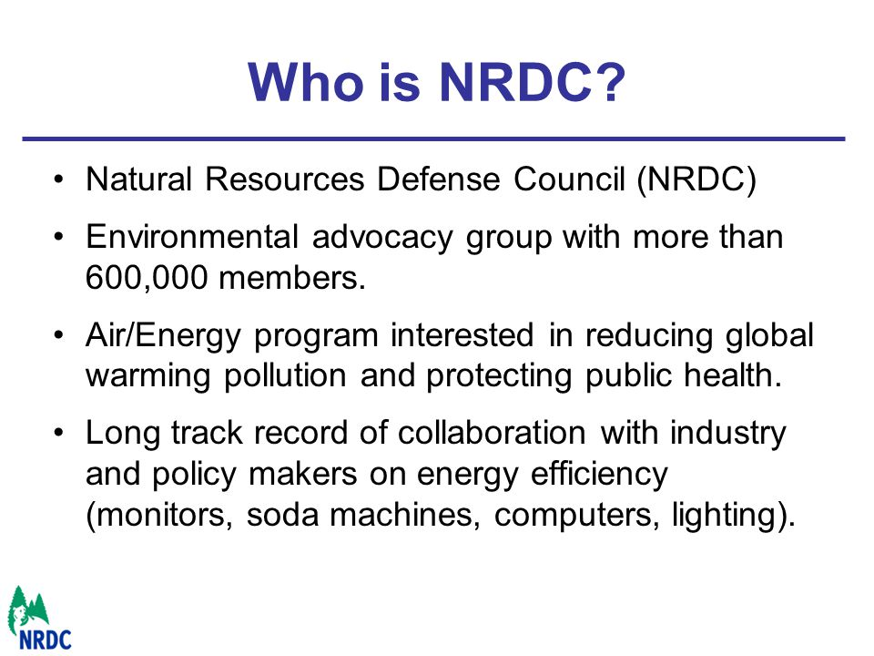 Who is NRDC.