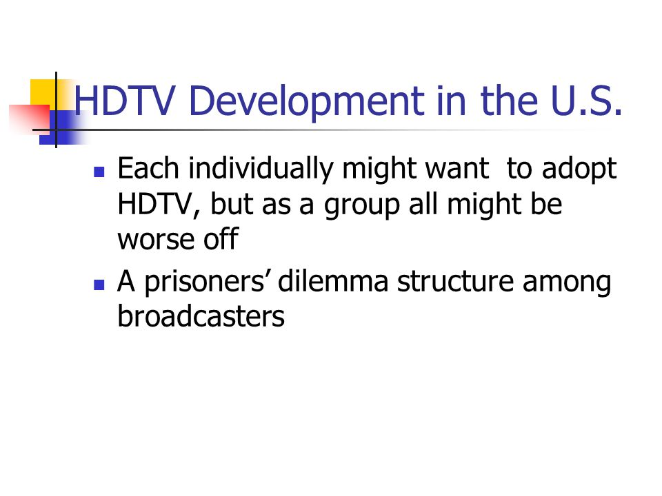 HDTV Development in the U.S.