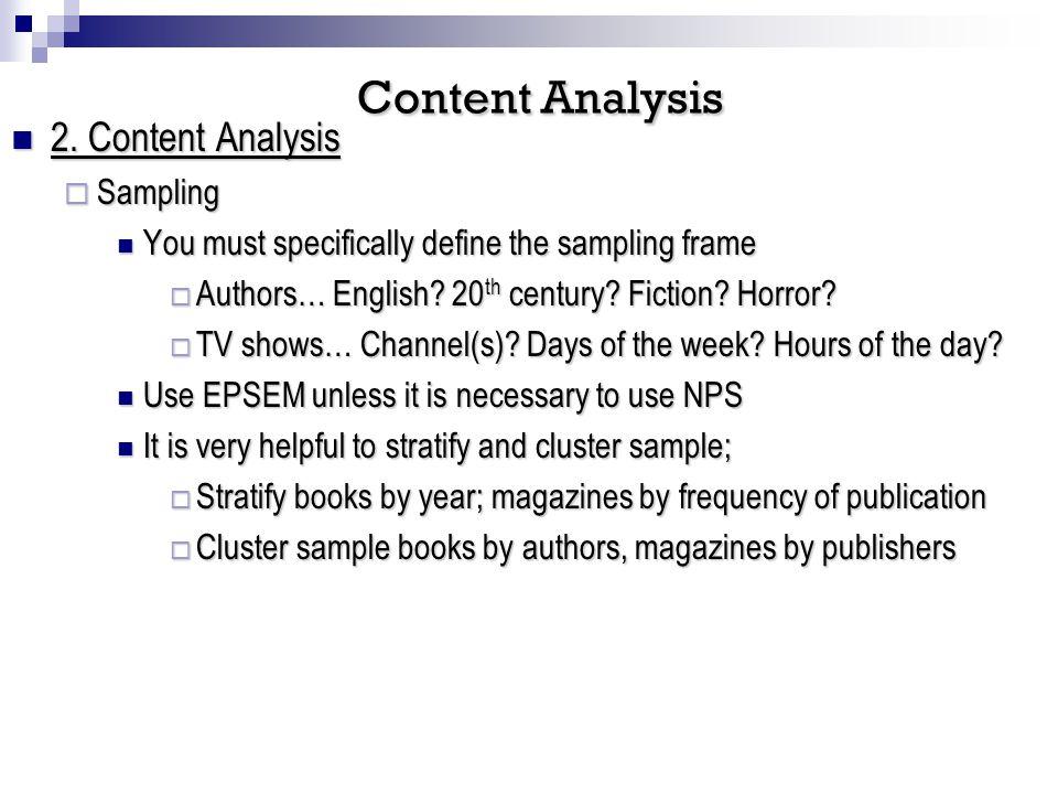 2. Content Analysis 2.