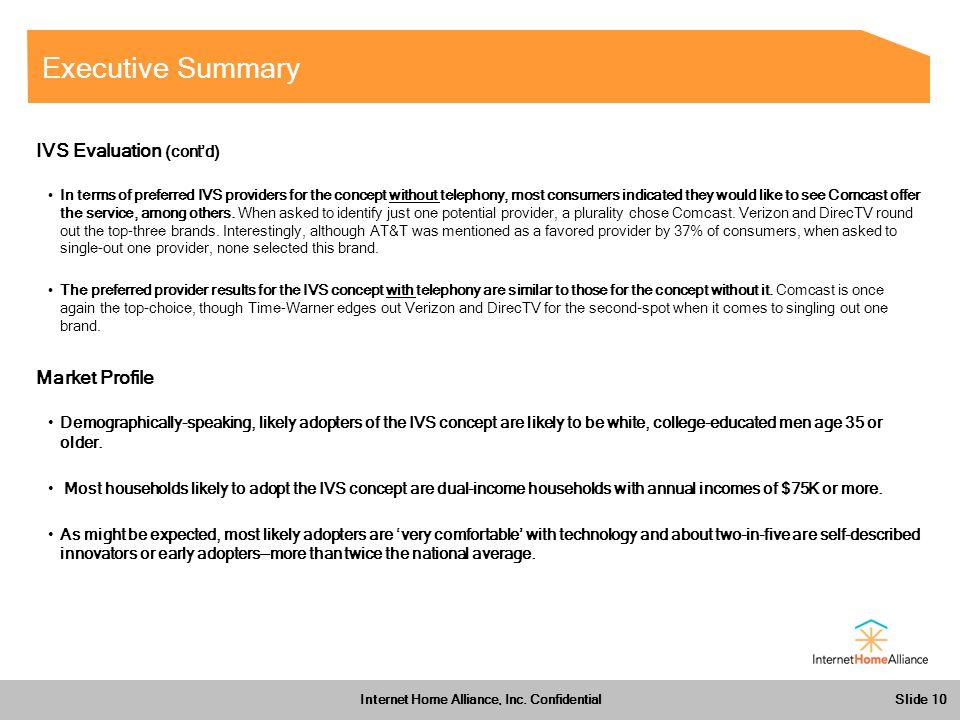 Slide 10 Internet Home Alliance, Inc.