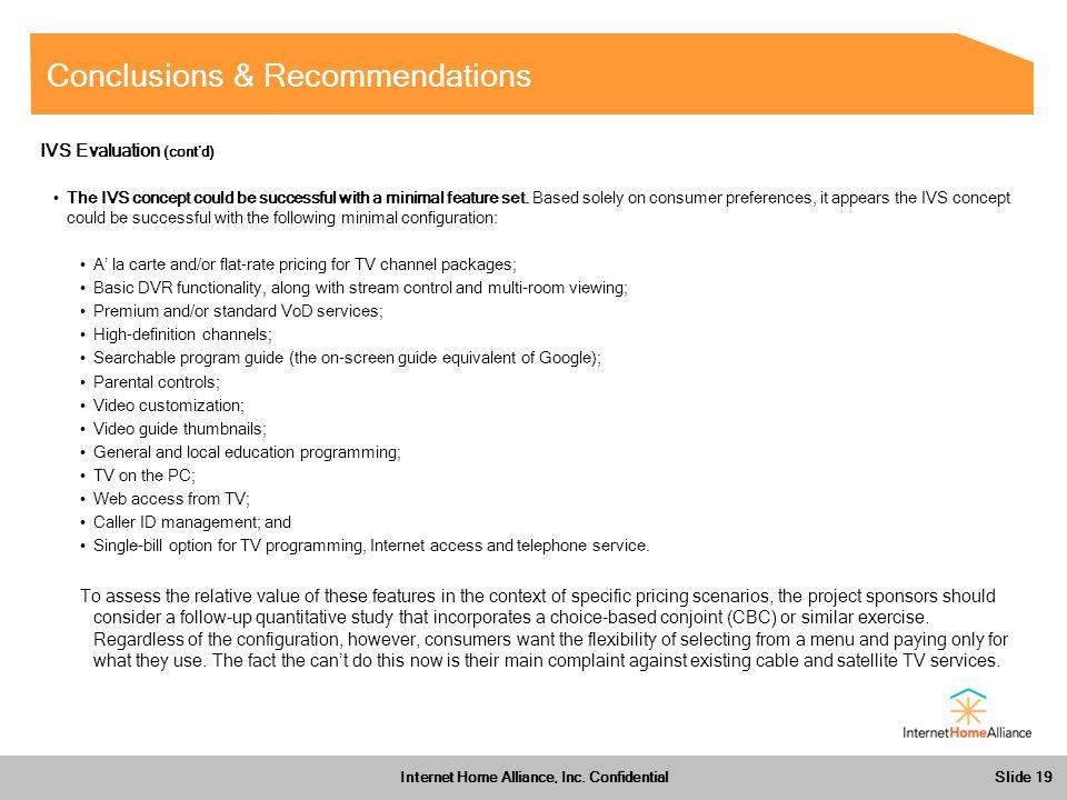 Slide 19 Internet Home Alliance, Inc.