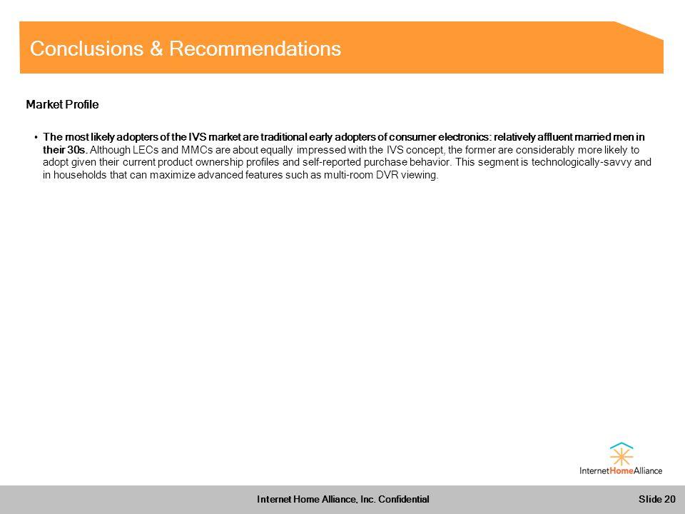 Slide 20 Internet Home Alliance, Inc.