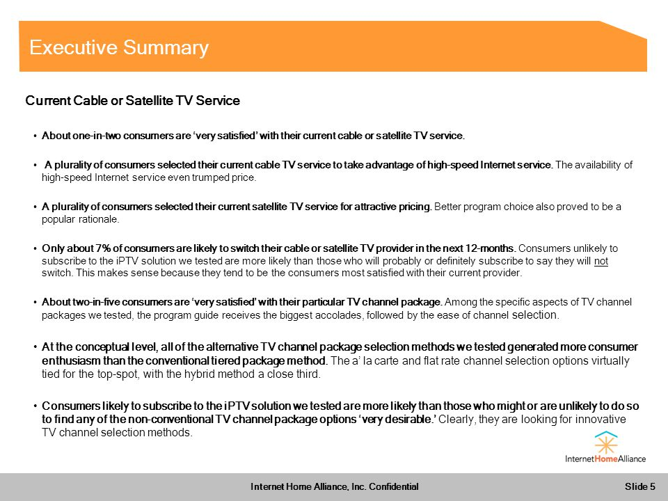 Slide 5 Internet Home Alliance, Inc.