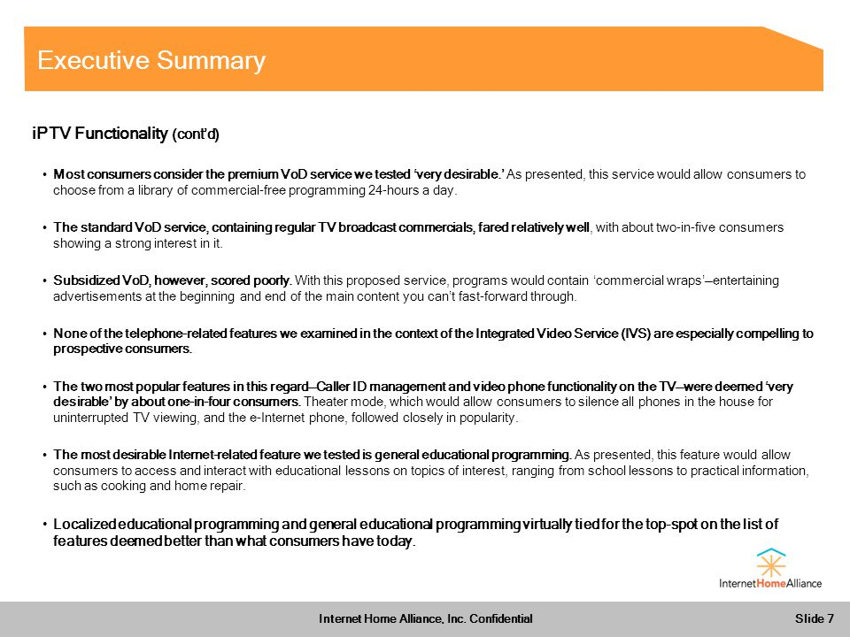 Slide 7 Internet Home Alliance, Inc.