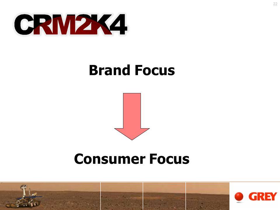 22 Brand Focus Consumer Focus