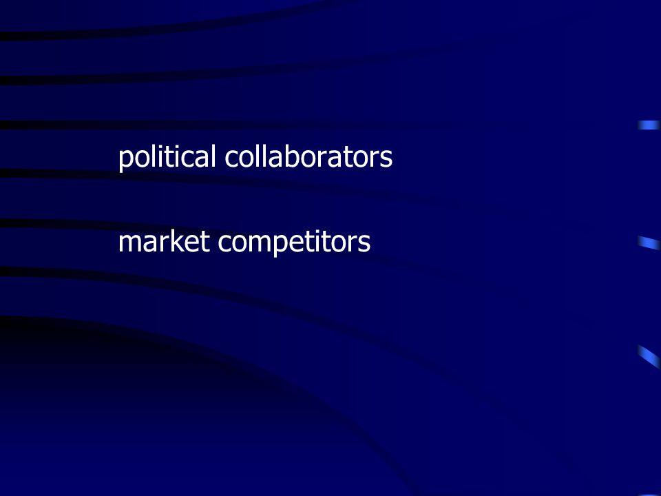political collaborators market competitors