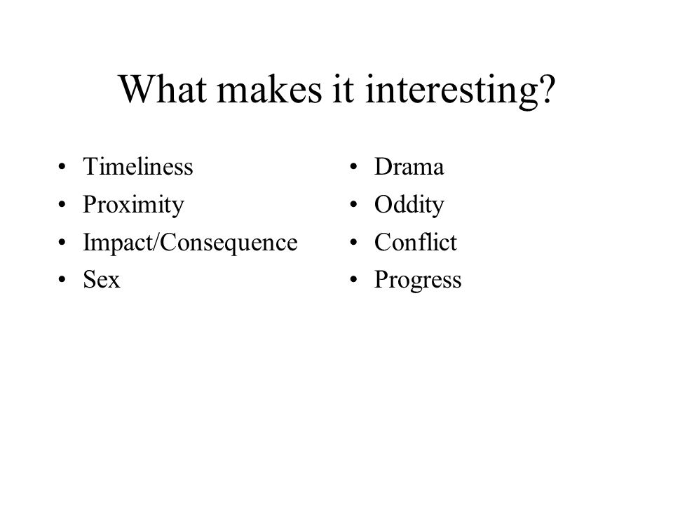 What makes it interesting.