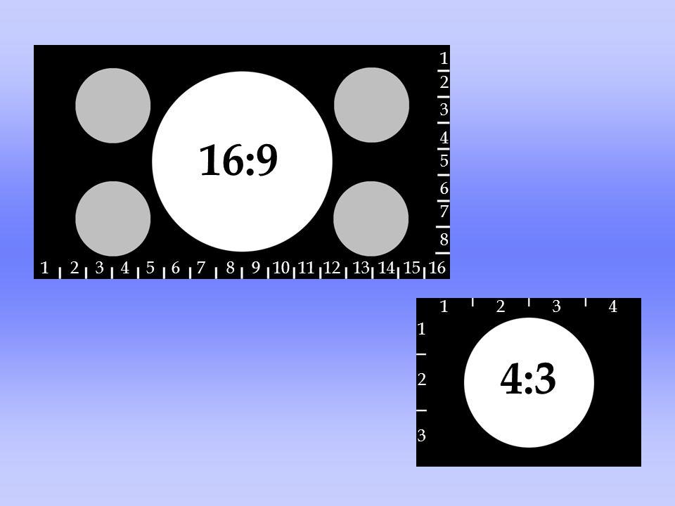 16:9 1 2 3 4 5 6 7 8 9 10 11 12 13 14 15 16 1 2 6 3 5 4 8 7 4:3 1 1423 3 2