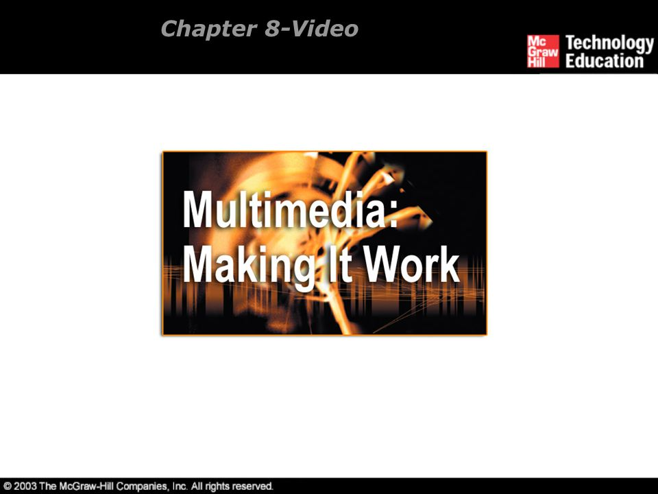 Chapter 8-Video