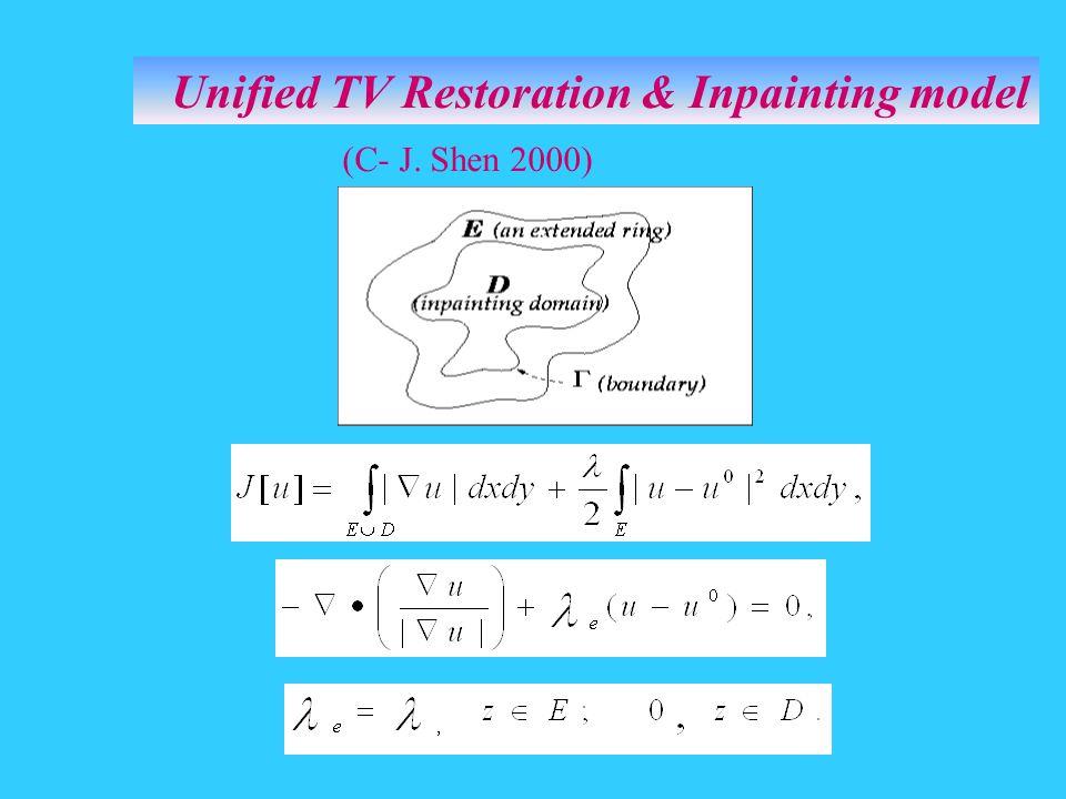Unified TV Restoration & Inpainting model (C- J. Shen 2000)